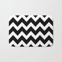 Chevron Black & White Bath Mat