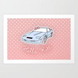 Hello Kitt Art Print