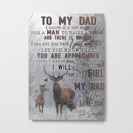 Poster TO MY DAD  HUNTING Metal Print