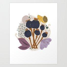 Fall Floral Bouquet Art Print