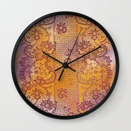 soft lace runner romantic Wall Clock