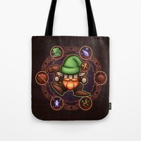 gnome Tote Bags featuring Gnome  by likelikes