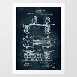 1879 - Roller-Skate patent art Art Print