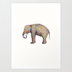 elephant color Art Print