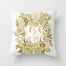 That's Life – Gold on Gold Throw Pillow