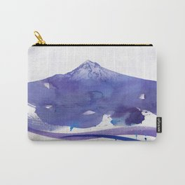 Mt. Hood watercolor Carry-All Pouch