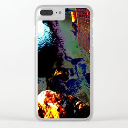 Ripples of Colour Clear iPhone Case
