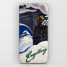 Vintage Engelberg Switzerland Travel iPhone & iPod Skin