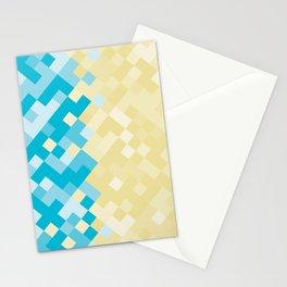 Geometric No. 29 beach mosaic 2 Stationery Cards