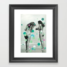 Chasing Bubbles Framed Art Print