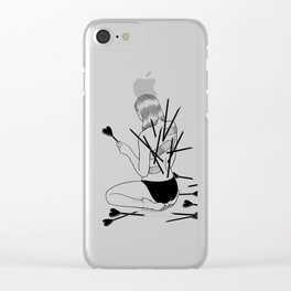 I fall in love too easily Clear iPhone Case