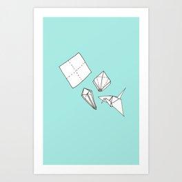 Oragmi Paper Crane Art Print
