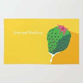 Greeneyed Strawberry Rug