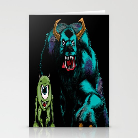 Mike & Sully (black)... Stationery Cards
