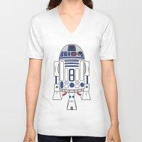 r2d2 V-neck T-shirts featuring R2D2 by Gyunjoo Kim