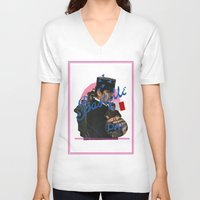 bastille V-neck T-shirts featuring bastille day by crayon dreamer