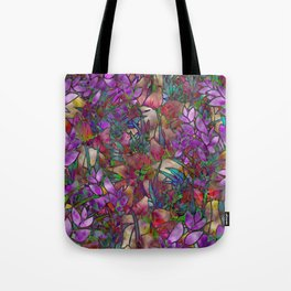 Floral Abstract Stained Glass G175 Tote Bag