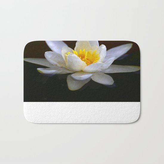 White Water Lily  Bath Mat