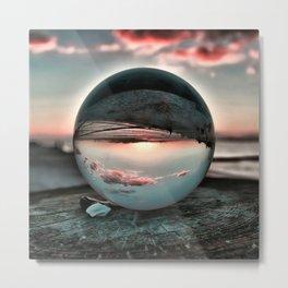 Sunset at East Matutuck Beach, South Kingstown, Rhode Island Metal Print