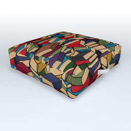 The Book Collector Outdoor Floor Cushion