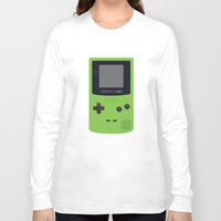 gameboy Long Sleeve T-shirts featuring GAMEBOY Color - Green by Cedric S Touati