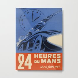 1954 Le Mans poster, Race poster, car poster, Metal Print