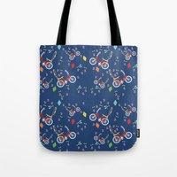 outdoor Tote Bags featuring Outdoor Fun by curlywillowco