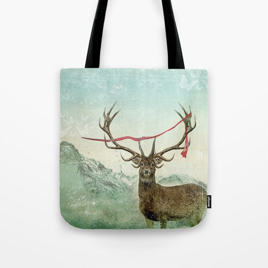 hold deer, tsunami Tote Bag