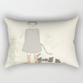 Cat Girl Rectangular Pillow