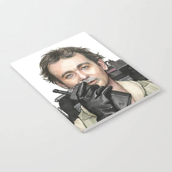 Bill Murray as Peter Venkman from Ghostbusters, Watercolor Portrait Notebook