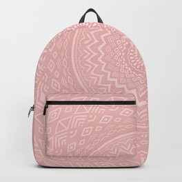 Rosey Pink Aztec Tribal Mandala Detailed Intricate Unique Backpack