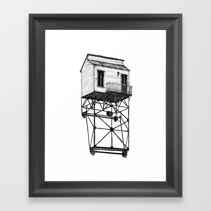Isolated Framed Art Print