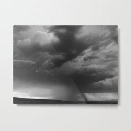 Summer Night Sky (Gray) Metal Print