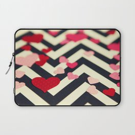 Chevron and Hearts Laptop Sleeve