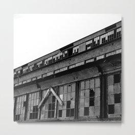 Bethlehem Steel plant windows in black and white Metal Print