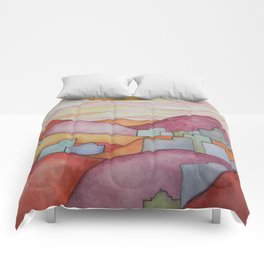 Colorful Hillsides Comforters