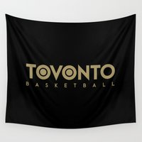 basketball Wall Tapestries featuring Toronto Basketball by October's Very Own