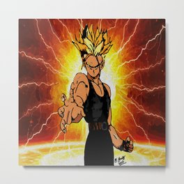 Dragonball Z Trunks sketch colored Metal Print