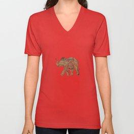 Elephant baby Unisex V-Neck