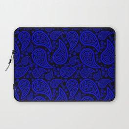 Paisley (Blue & Black Pattern) Laptop Sleeve