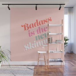 Badass is the new skinny - Coral #girlpower Wall Mural