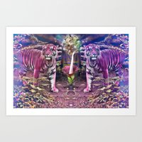 chvrches Art Prints featuring Tiger Perspective by Mapache