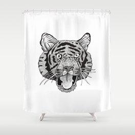 Fierce Tiger Shower Curtain