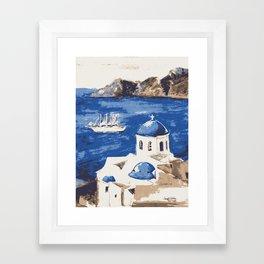 Santorini Greece Framed Art Print
