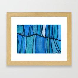 2 Blue Framed Art Print