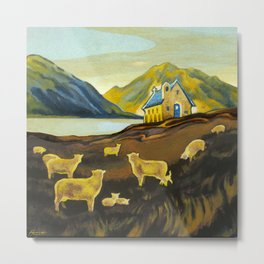 The Good Shepherd, Lake Tekapo Metal Print