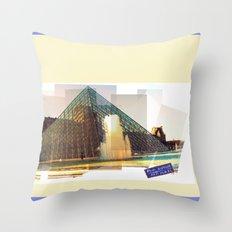 bonjour la France Throw Pillow