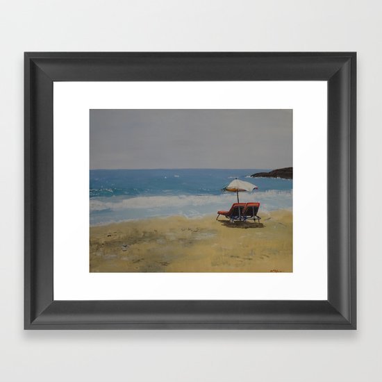 Beach Romance Framed Art Print