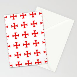 Cross pattée- crusades, templar,patty,templier Stationery Cards