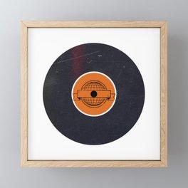 Vinyl Record Art & Design | World Post Framed Mini Art Print